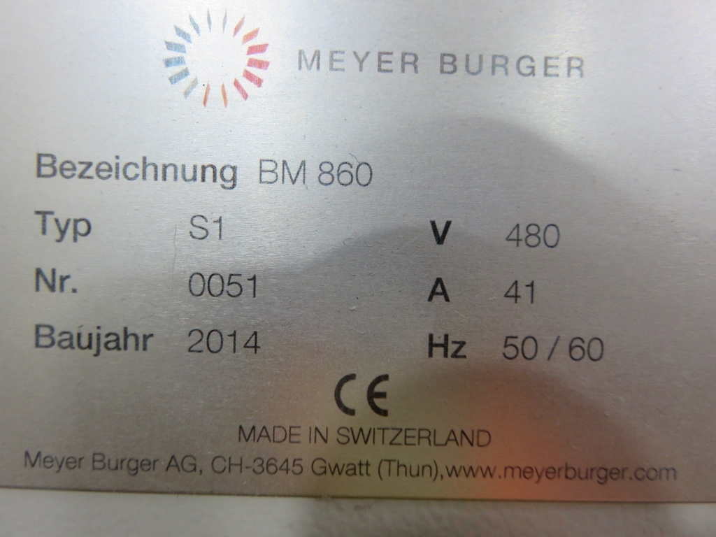 Meyer Burger Brickmaster BM860 Private Treaty Sale - Liquidation ...